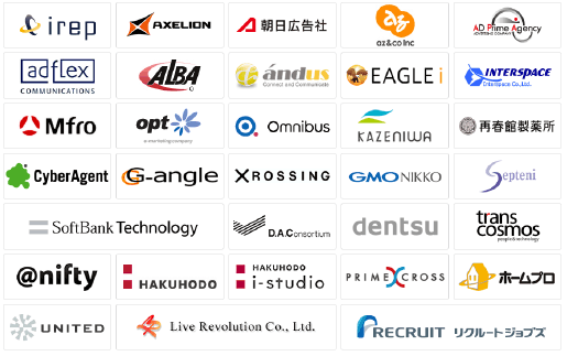 Examples of companies that use the ADFlow Advertising Management System (banner ads, mail magazines, etc.)